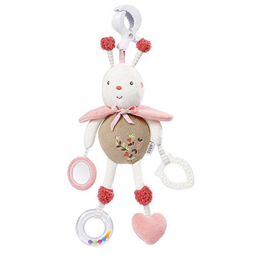 Fehn Activity-Spieltier / Motorikspielzeug zum Aufhängen mit Spiegel & Ringen zum Beißen, Spielen, Greifen und Geräusche erzeugen / Für Babys und Kleinkinder ab 0+ Monaten