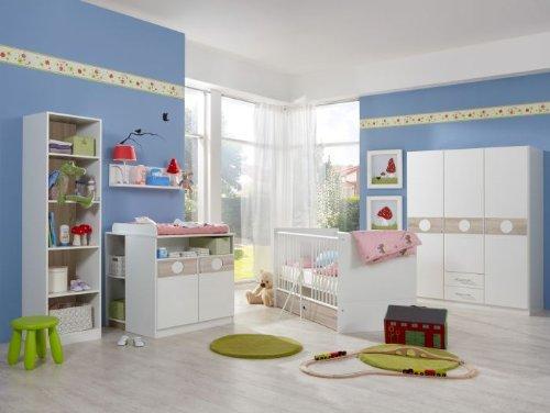 Babyzimmer Kimba komplett Sets verschiedene Ausführungen (Babyzimmer Kimba 6tlg. mit 3trg. Schrank)