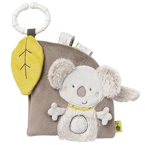 Fehn 064117 Soft-Bilderbuch Koala - Fühlbuch aus Stoff mit Tier Motiven - Für Babys und Kleinkinder ab 0+ Monaten - Maße: 14 x 15 cm
