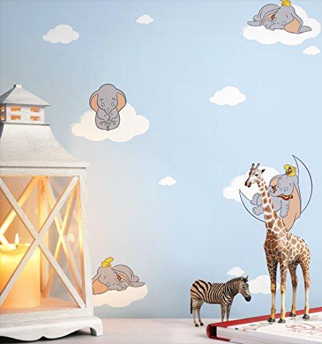 NEWROOM Kindertapete Blau Baby-Elephant Kinder Papiertapete Grau Papier Kindertapete Kinderzimmer Babytapete Babyzimmer