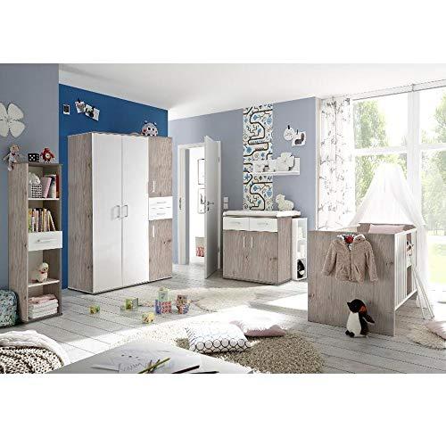 Babyzimmerset Sienna 8tlg. nelson eiche Komplett Set mitwachsend Gitterbett Baby