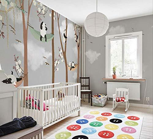 Wandelzimmer Tapete Junge Schlafzimmer Tapete Niedliche Baby-zimmer Öl-malerei Cartoon Panda Paradise 5 qm Nahtlos perlenden Tuch